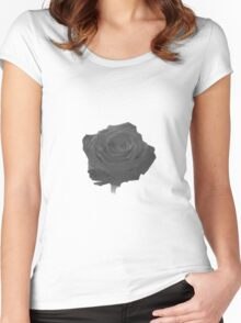 black rose Women's Fitted Scoop T-Shirt