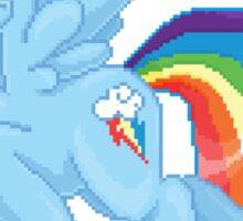 Rainbow Dash Pixel Art Sticker