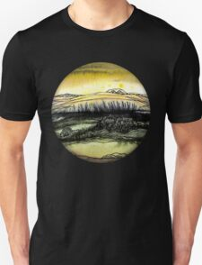 Summer.Hand draw  ink and pen, Watercolor, on textured paper Unisex T-Shirt