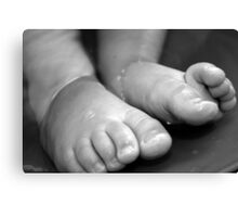 Childs Feet Canvas Print