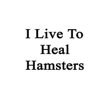 I Live To Heal Hamsters  by supernova23