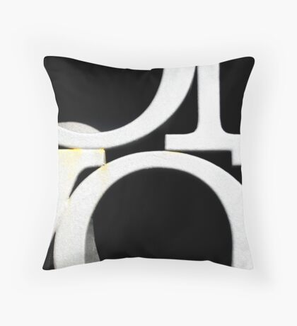 The geometry of frozen words Throw Pillow