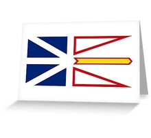 Newfoundland and Labrador Flag Greeting Card
