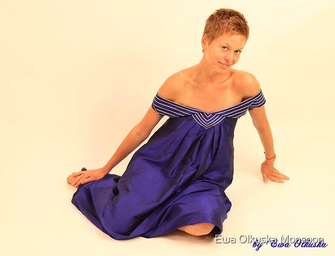 """The Deep Ocean"" - dress by Ewa Olkuska Monsoon"