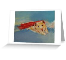 Flying Hamster Greeting Card