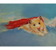 Flying Hamster Photographic Print