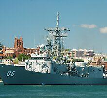 HMAS NEWCASTLE by Phil Woodman