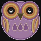 Purple Owl T-Shirt /  Purple Owl Sticker by Louise Parton