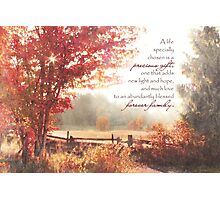 Adoption Greeting Card Photographic Print
