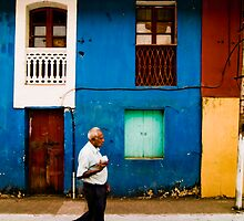 Vibrant wall with Pedestrian by Chinua Ford