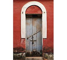 Red Arched Doorway Photographic Print
