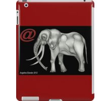 @Elephant text iPad Case/Skin