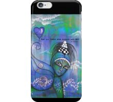 Tolkien - Not all those wander are lost - words with art by ANGIECLEMENTINE iPhone Case/Skin
