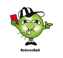 Referee Ball Photographic Print