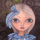 """""""Blue Gingham & Peacock Feathers"""" by Jaz Higgins"""