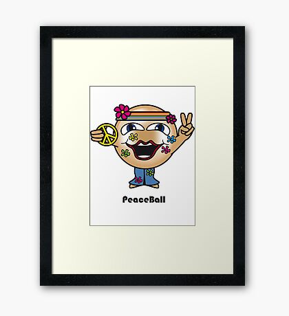 Peace Ball Framed Print