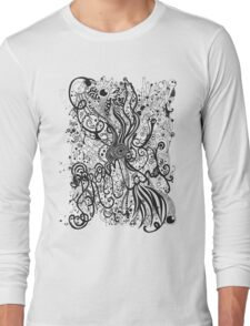 Dream Land in Black and White Long Sleeve T-Shirt