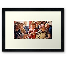 Mongolian Meeting Framed Print