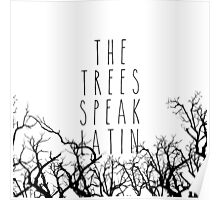 The trees speak latin Poster