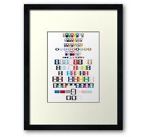 Gameboy - 2DS Timeline Framed Print