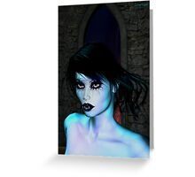 The glow of Vampire Greeting Card