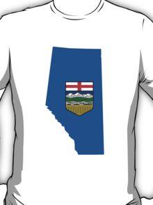 Alberta Flag Map T-Shirt