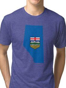 Alberta Flag Map Tri-blend T-Shirt