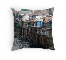 Living in poverty Throw Pillow