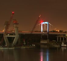 Paseo Bridge Construction July 22, 2009.  Kansas City, Mo. by TeeMack