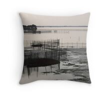 Disappearing Heritage - Fish Traps Throw Pillow