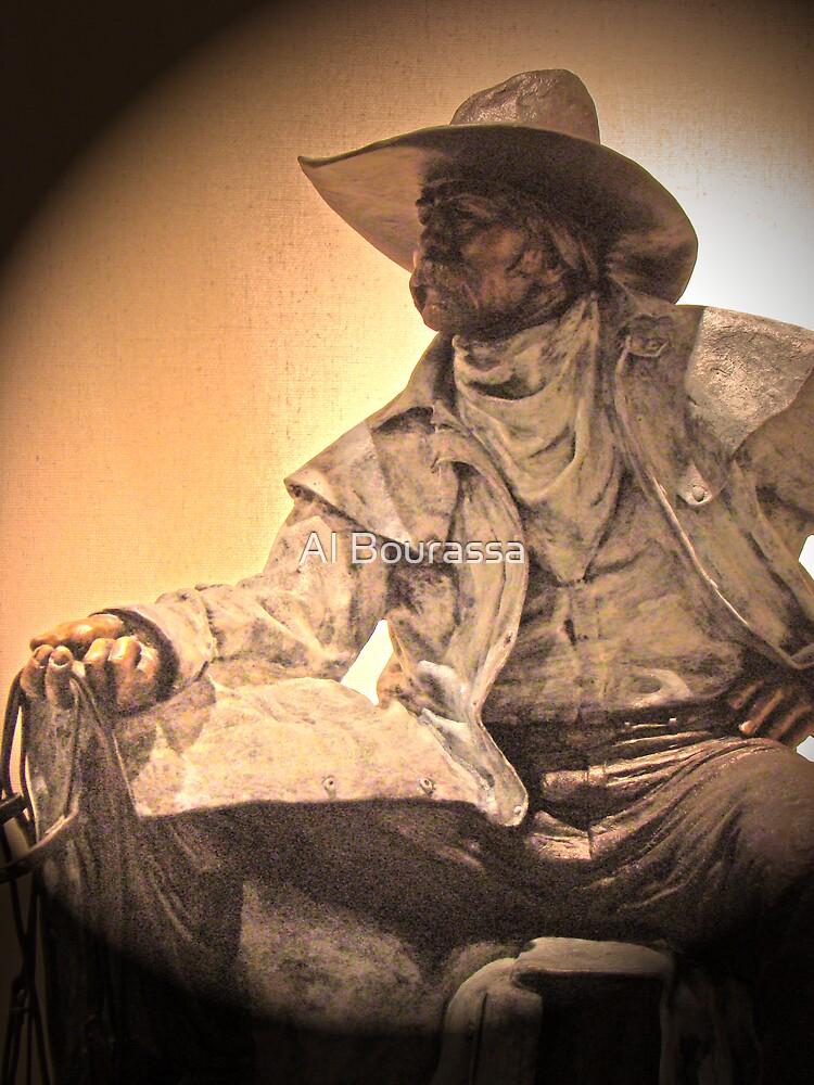 Portrait Of A Cowpoke by Al Bourassa