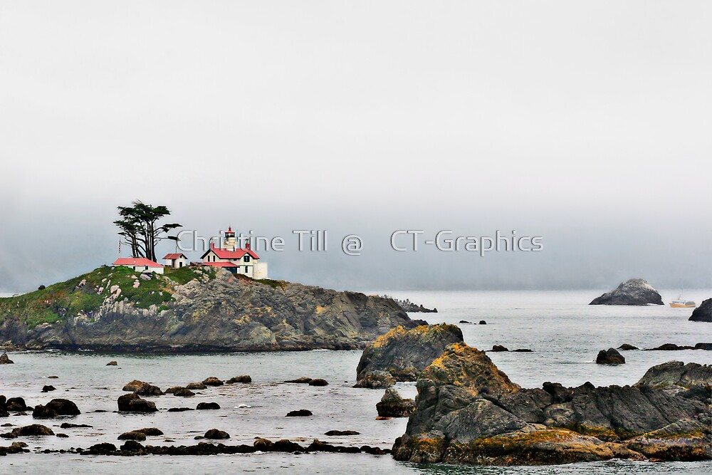 Battery Point Lighthouse, CA by Christine Till  @    CT-Graphics