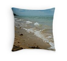 Fort Victoria Beach Throw Pillow