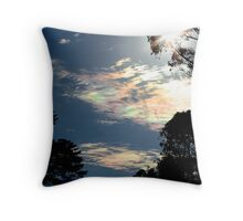 Iridescent clouds again Throw Pillow