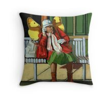 Just Visiting #2 - people Throw Pillow
