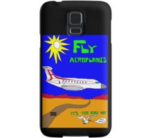 Fly Aeroplanes. It's the only way. Who sez? (Large) Samsung Galaxy Case/Skin