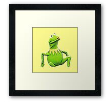 its not easy being green Framed Print