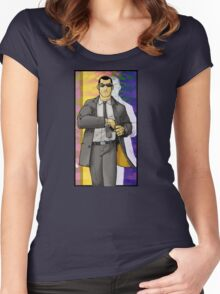 Psychedelic Hitman Women's Fitted Scoop T-Shirt