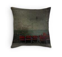 Arm chair boneyard Throw Pillow