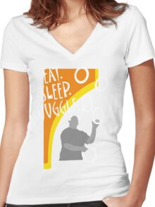 Eat, Sleep, Juggle Women's Fitted V-Neck T-Shirt