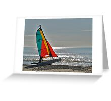 Getting ready to sail on the evening tide Greeting Card