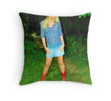 red boots Throw Pillow