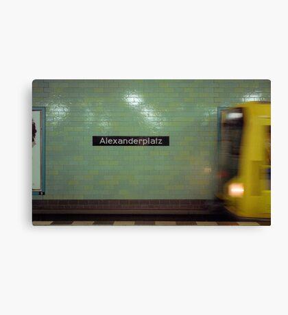 U-Bahnhof Alexanderplatz Canvas Print