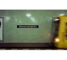 U-Bahnhof Alexanderplatz Photographic Print