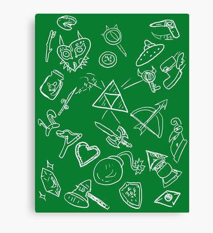 zelda items  Canvas Print