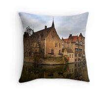 Rozenhoedkaai, Bruges Throw Pillow