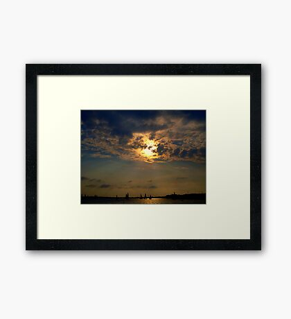 Sailboats Serene on the Water    Framed Print