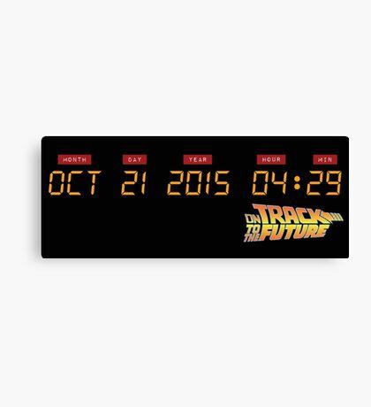 October 21, 2015 in DeLorean Numbers  Canvas Print