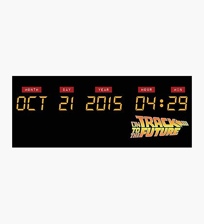 October 21, 2015 in DeLorean Numbers  Photographic Print