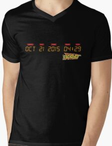 October 21, 2015 in DeLorean Numbers  Mens V-Neck T-Shirt